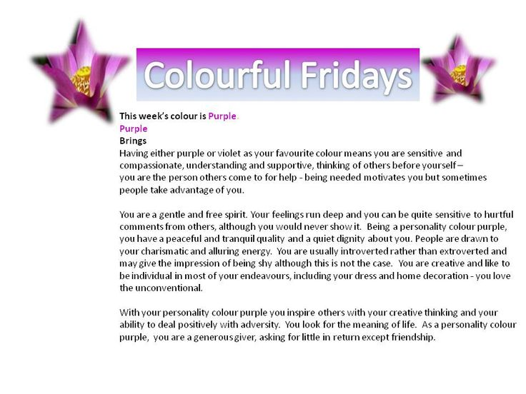 How colour plays a role in our lives!