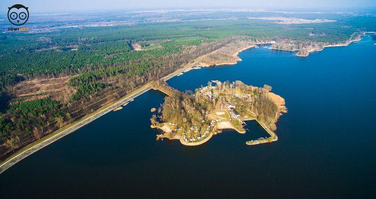 Filmowanie  i fotografia dronem.Jezioro Turawskie,Opole. Dron SowiWeb