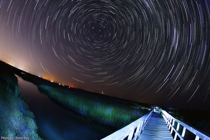 Photographer Peter Day caught a Perseid meteor and star trails at Isle of Palms, SC, on August 12, 2013.