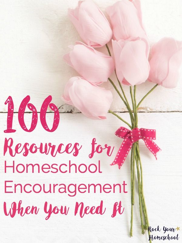 Here is a list of 100 resources for homeschool encouragement when you need it. We all have bad days or times when we feel alone. Keep these helpful resources close to you for moments when you need a boost to your homeschool day. Includes FREE PRINTABLE with these resources plus room to add your own! Find more homeschooling tips & ideas at rockyourhomeschool.net