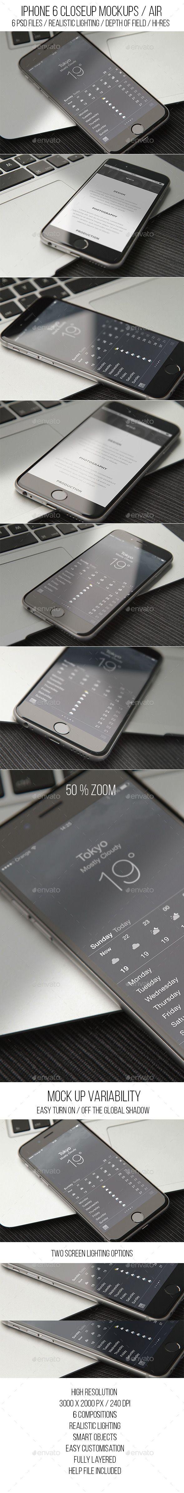 Phone 6 Closeup Mockups Air
