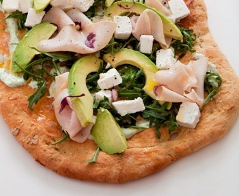 Avocado-topped flatbread with turkey, rocket and feta cheese from @Eat Out... yum! #W4D #EatOutFestival #Picnic
