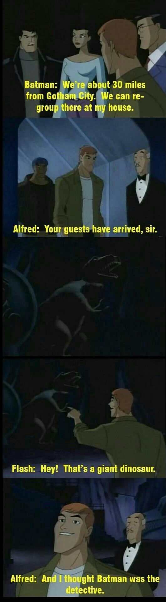 Alfred can be so savage. XD