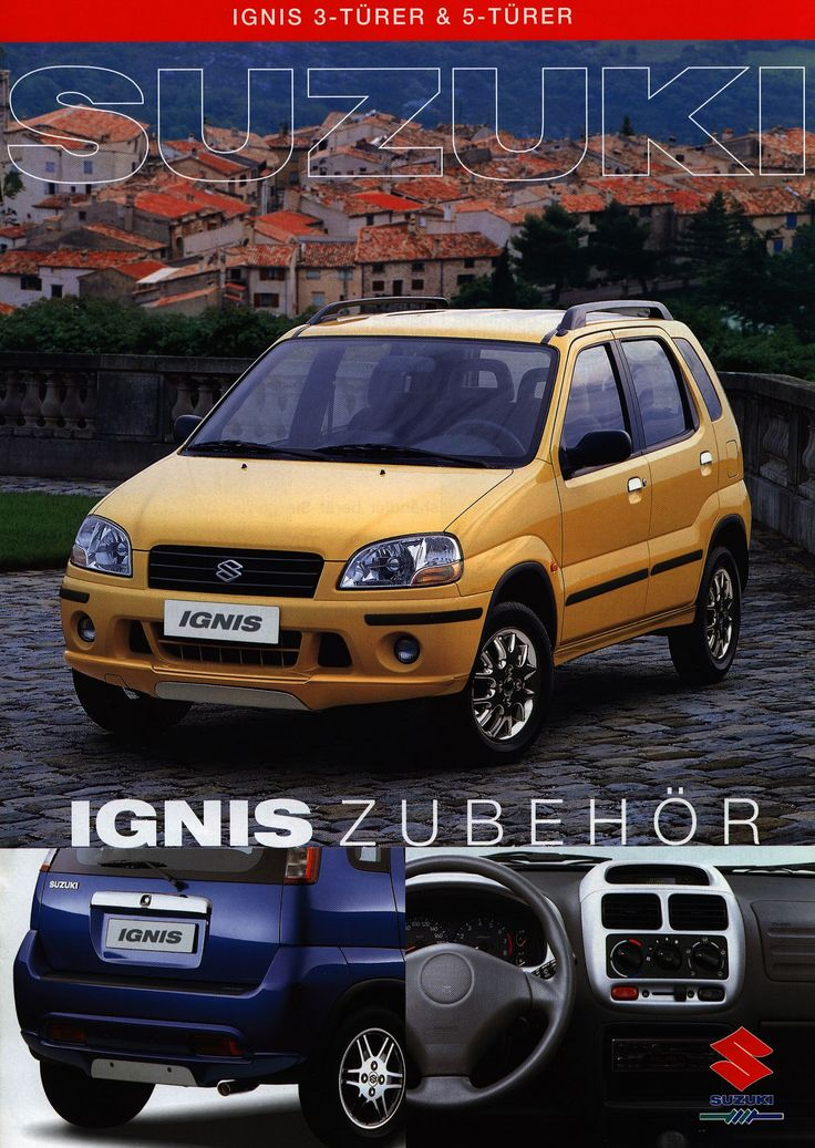 https://flic.kr/p/Frj4zU | Suzuki Ignis 3-Türer & 5-Türer Zubehör; 2000 | auto car brochure | by worldtravellib World Travel library - The Collection