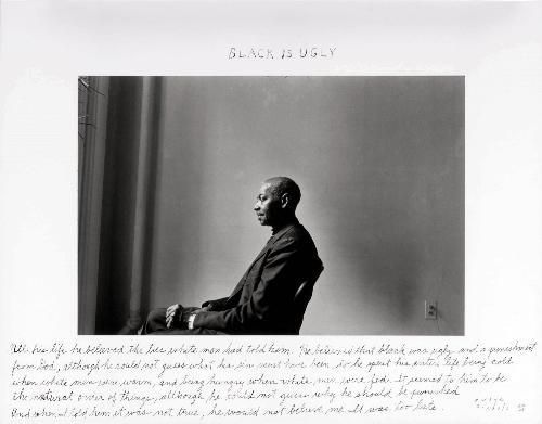 Duane Michals - Black is ugly