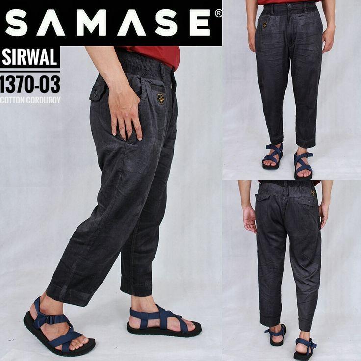 SAMASE SIRWAL 1370 Warna Hitam Corduroy