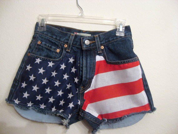12 best American Flag High Waisted Shorts images on Pinterest