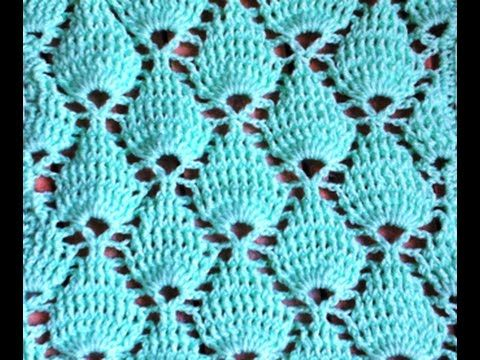 Point fantaisie tressé au crochet très facile / Punto fantasia trenzado tejido a crochet - YouTube