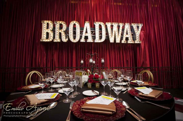 This Marquis Sign really took the event to the next level!  - Broadway themed party!