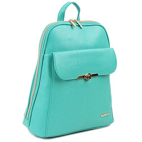 Copi Women's Simple Modern Design Deluxe fashion Small Backpacks Mint *** Find out more details @