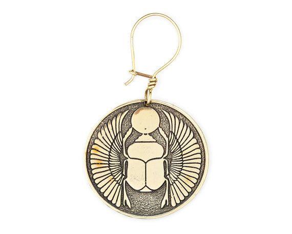 Skarabäus Ohrringe Creolen Tribal Ohrringe von eleven44jewelry …
