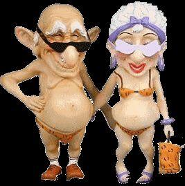 Gifs animados divertidos de Abuelos o ancianos (Viejitos)