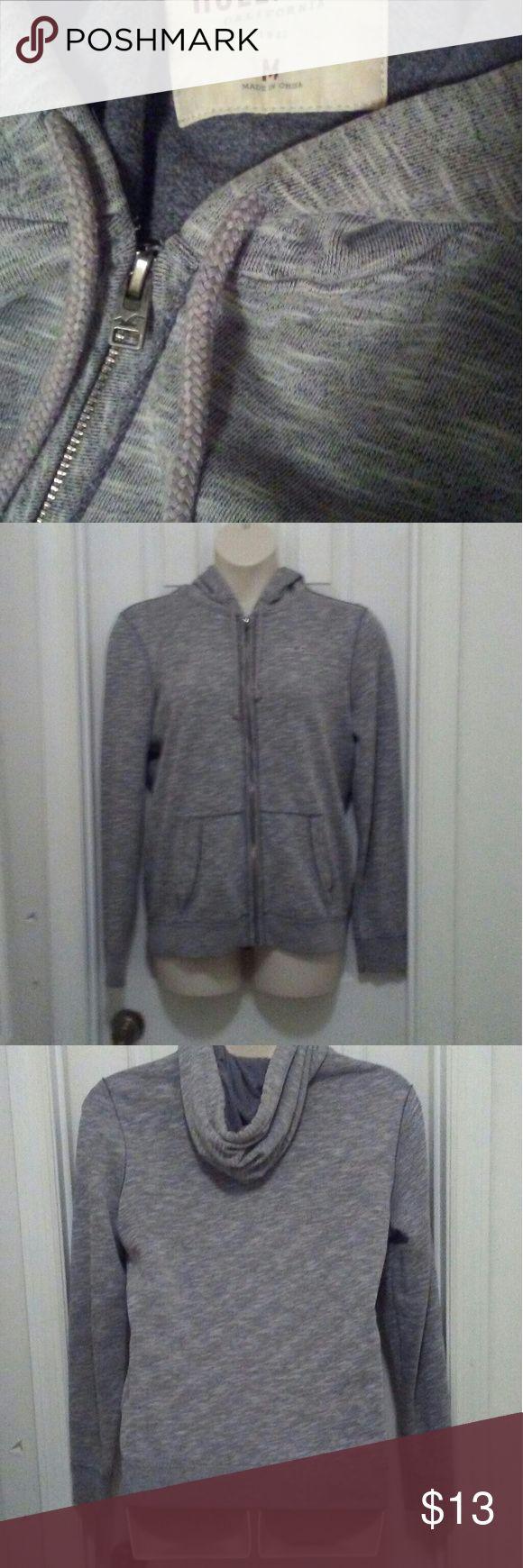 Hollister jacket Gray medium zip up jacket w/hoodie in excellebt condition Hollister Jackets & Coats