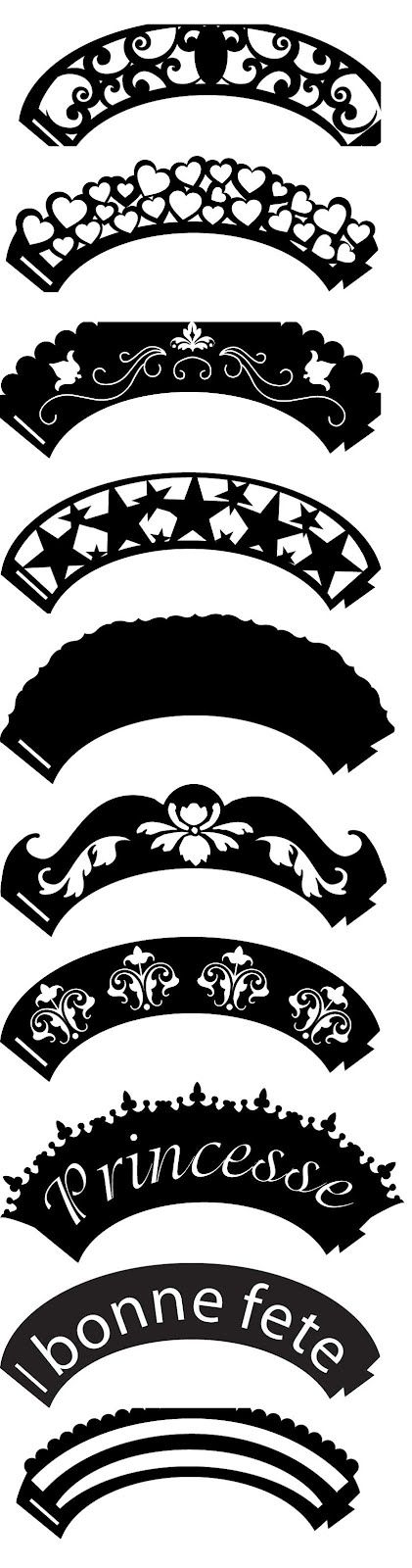 KLDezign SVG - Cupcake Wrappers... but could be cute around the belly button?