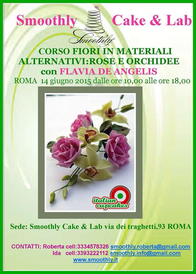 Corso fiori con materiali alternativi alla scuola di smoothly