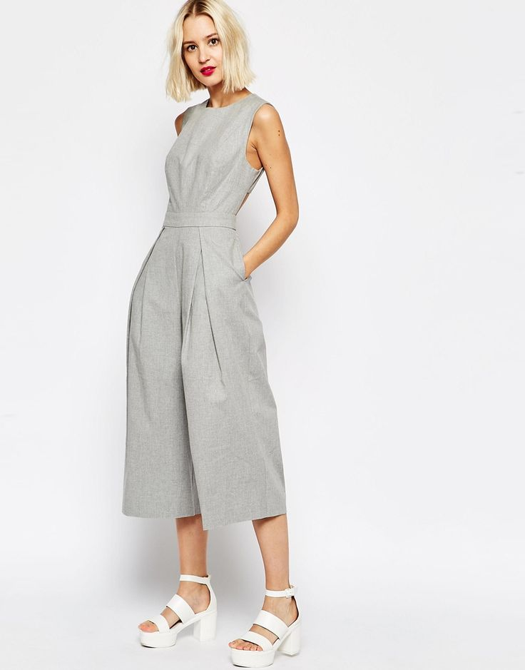 Image 4 of ASOS Awkward Length Jumpsuit With Cut Out Back