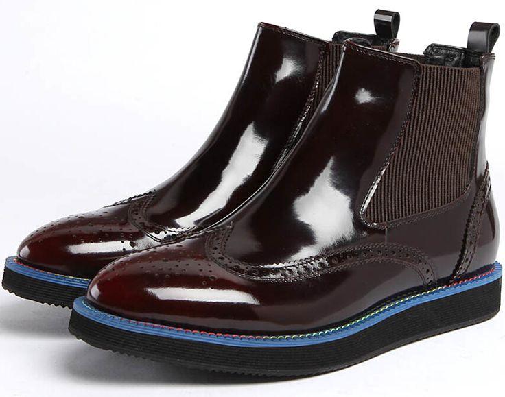 2016 мужские Квартиры моды лодыжки сапоги кофеварка/черные мужские ботинки из натуральной кожи кроссовки мужские зимние ботинки на открытом воздухе