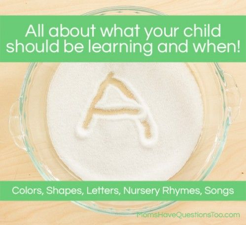What Age to Start Teaching Your Child Colors, Shapes, Letters and More! Also a few tips on how to teach them.