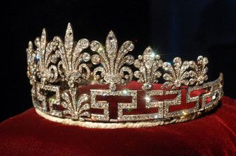The Spencer family 'Honeysuckle' tiara, that Diana also loved wearing.