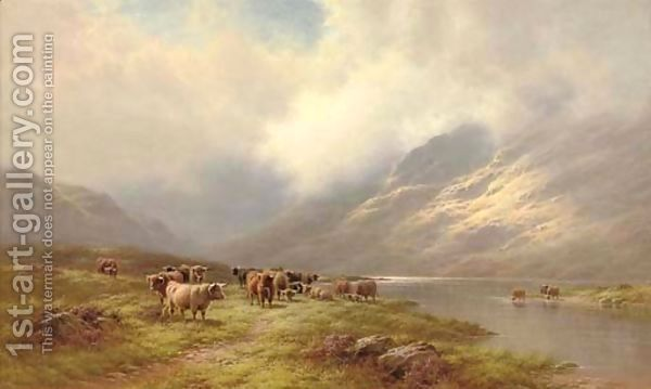 Walter J. Watson:Cattle beside a loch