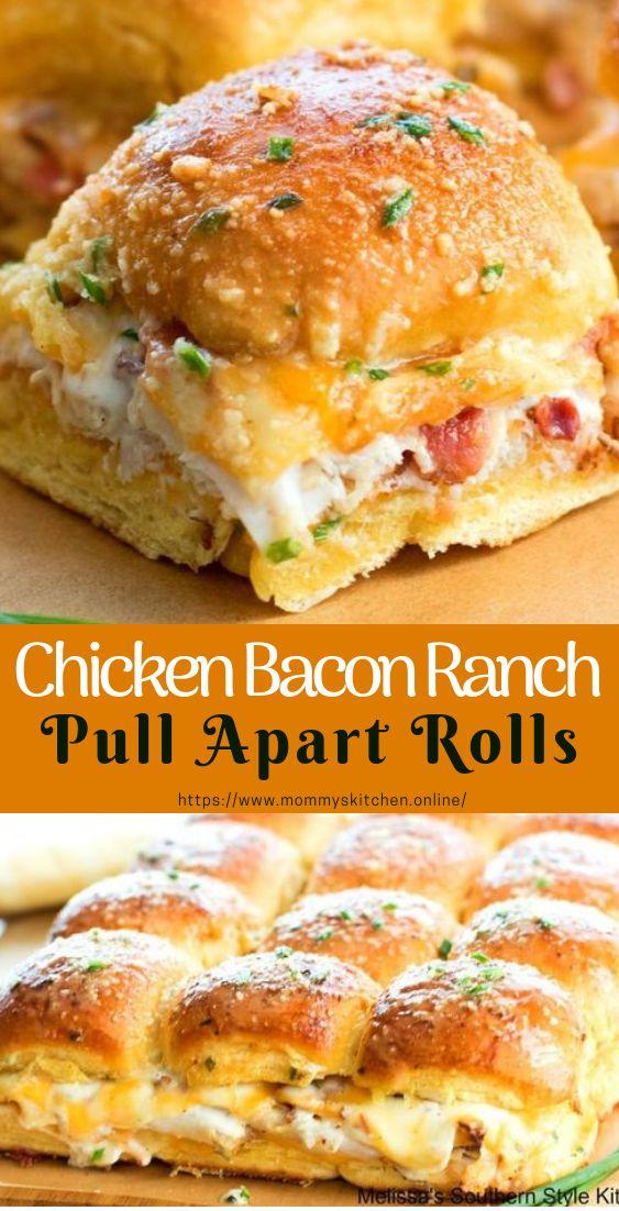 Chicken Bacon Ranch auseinander ziehen Rolls #pullApartRolls #easyrecipe