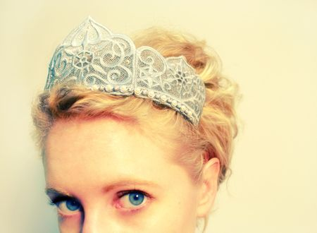 free standing lace crown embroidery | ... new one today. Rule the winter snows in this freestanding lace crown