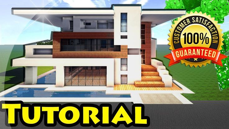 Minecraft: Easy Modern House / Mansion Tutorial #4 + DOWNLOAD - 1.8 [ Ho...