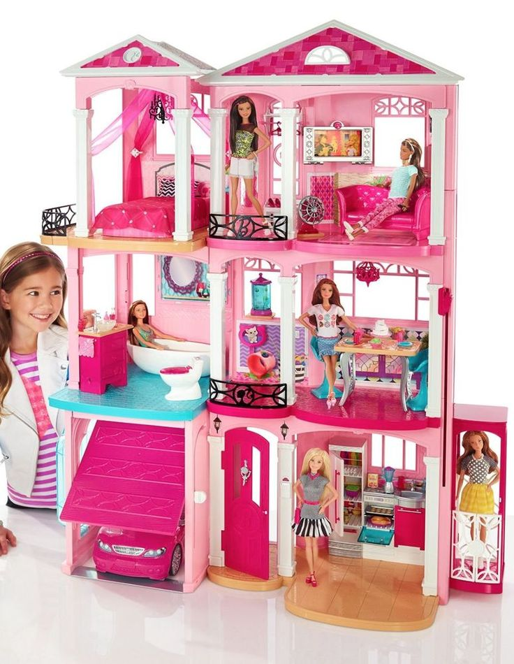 Barbie Dream House 3 Story With Elevator Furniture Accessories 2015 Dreamhouse