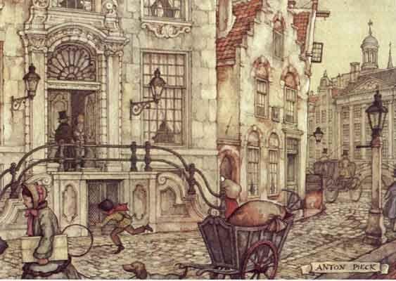 Anton Pieck, dog cart.
