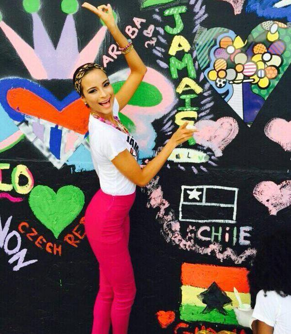 Kaci Fennell at the Vista Romero Britto event #MissJamaica #MissUniverse #TeamKaci #KaciFennell