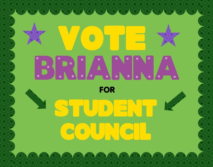 Make a School Election Poster | Vote for Student Council ...