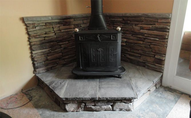 Hearth Pad Do It Yourself : The best corner wood stove ideas on pinterest