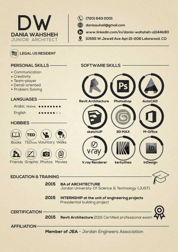 architectural design resume examples