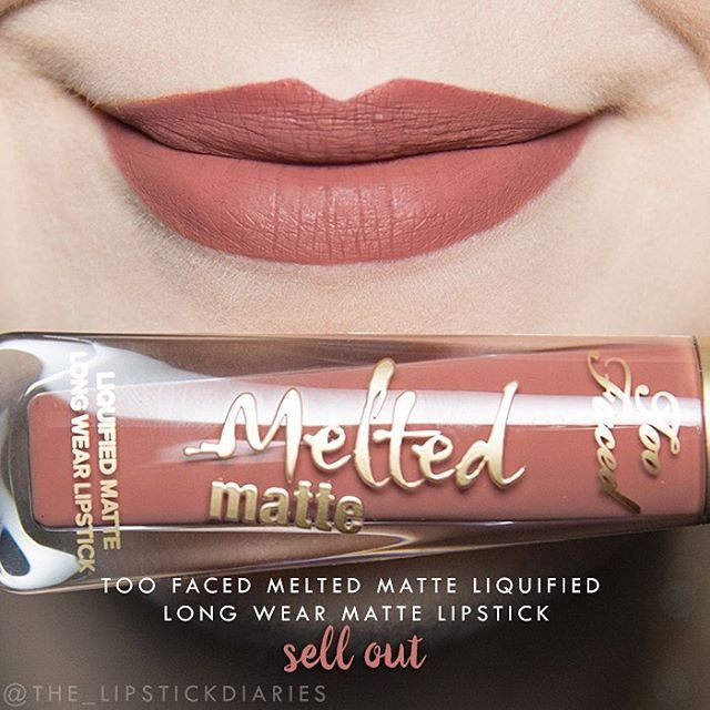 Too Faced Melted Matte Liquified Long Wear Matte Lipsticks - Sell Out Application - 5 | Pigmentation - 5 | Longevity - 5 | Texture - 4 | Packaging - 5 | Overall - A Again great application and pigmentation. Dries to a beautiful matte and it is slightly drying, but not uncomfortable in my opinion. It does tend to show the fine lines in the lips a bit more. As with It's Happening, it's not totally transfer proof, but it's not as noticeable with this shade. After lunch didn't notice much of a…