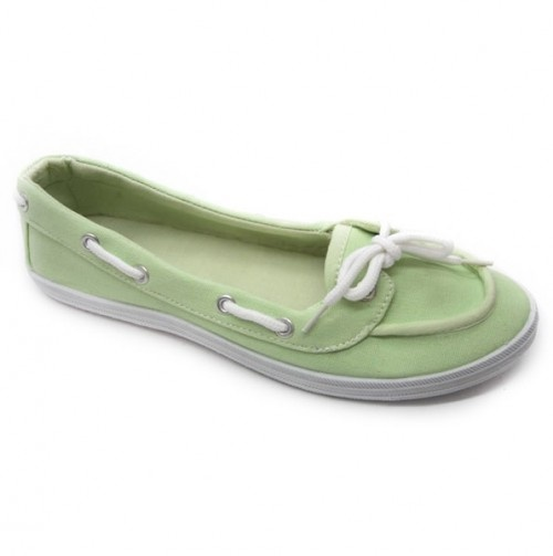 Ladies Boat Shoes in Mint