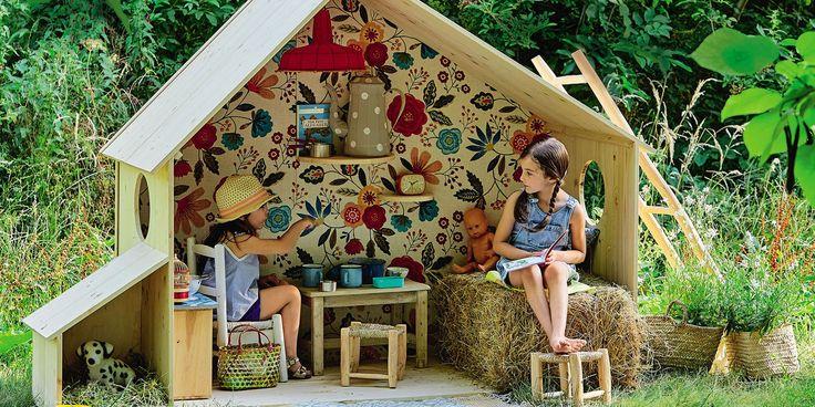 16 idées pour fabriquer une cabane de jardin