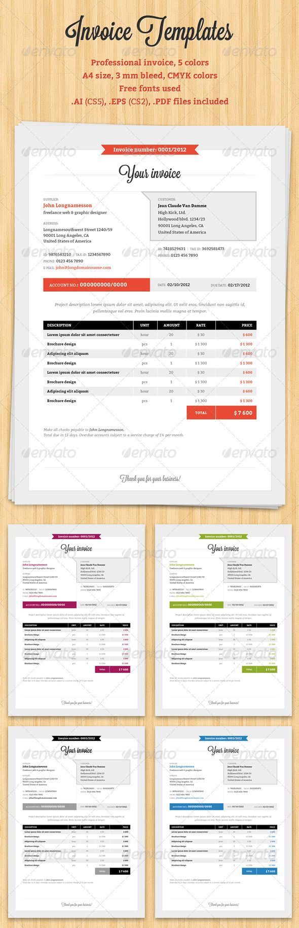 23 Best Invoices Images On Pinterest Proposal Templates Invoice