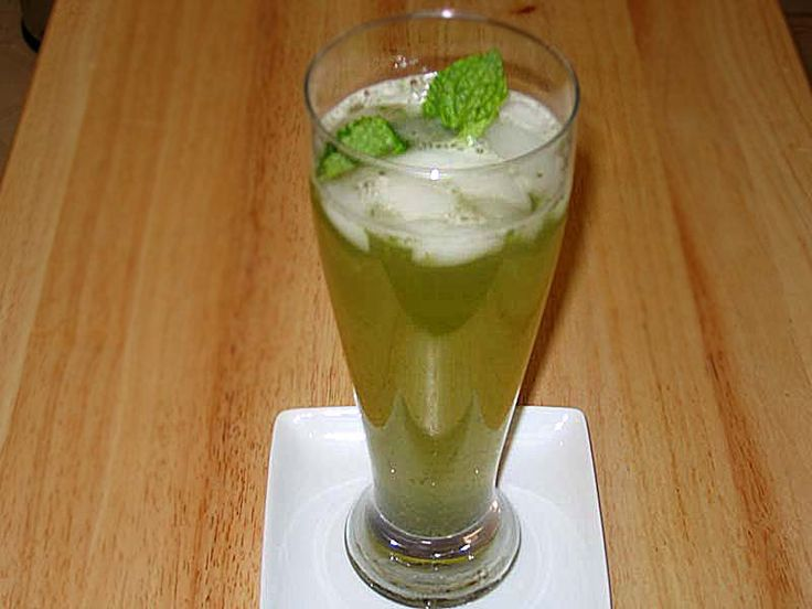 Mint lemonade...  This seems to be a good website for Indian vegetarian and vegan recipes.