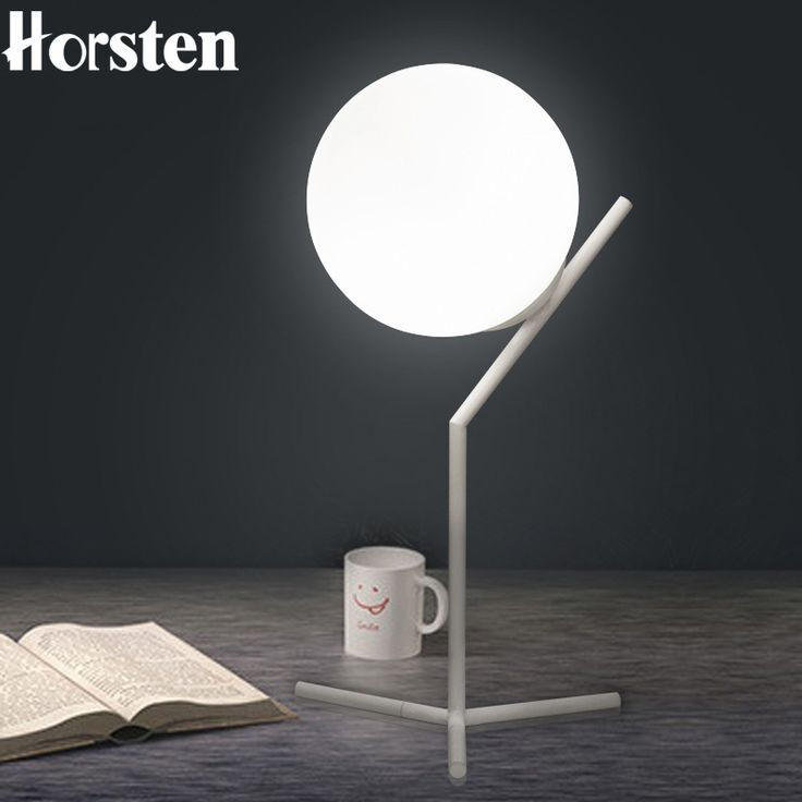 53.51$  Buy now - http://ali5ba.shopchina.info/go.php?t=32805417188 - Horsten E27 Table Lamp Nordic Minimalism Modern Glass Ball Bedside Lamps Simple Black White Table Lamps For Living Room Bedroom 53.51$ #buyonline