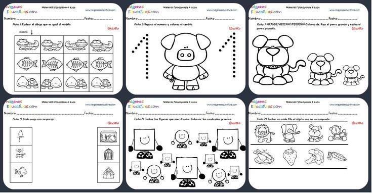 Cuadernillo complementario para 4 años, Educación Preescolar Portada