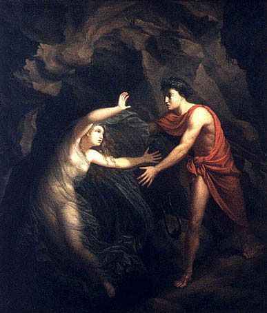 Orpheus trying to rescue Eurydice: 'oh well, we gave it our best, try to love again'