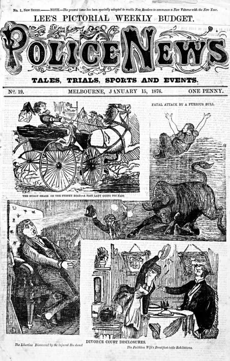 Police News, Melbourne. #twistedhistory
