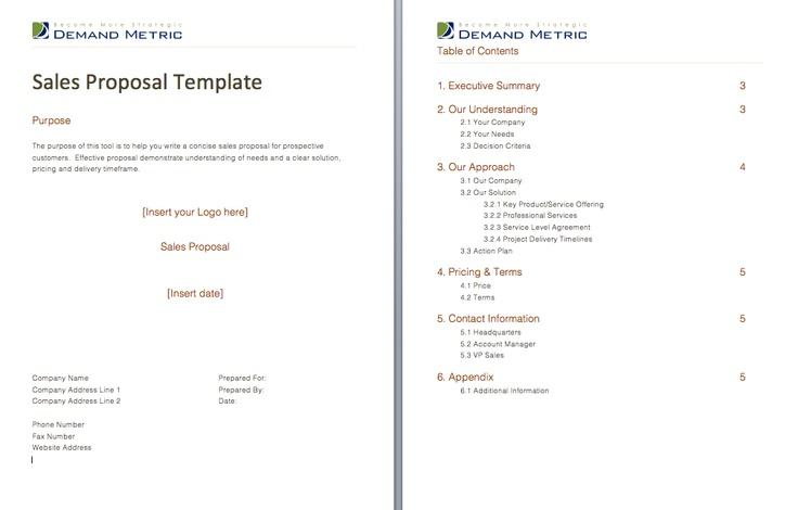 Sales Proposal  Use This Template To Provide Your Reps With A