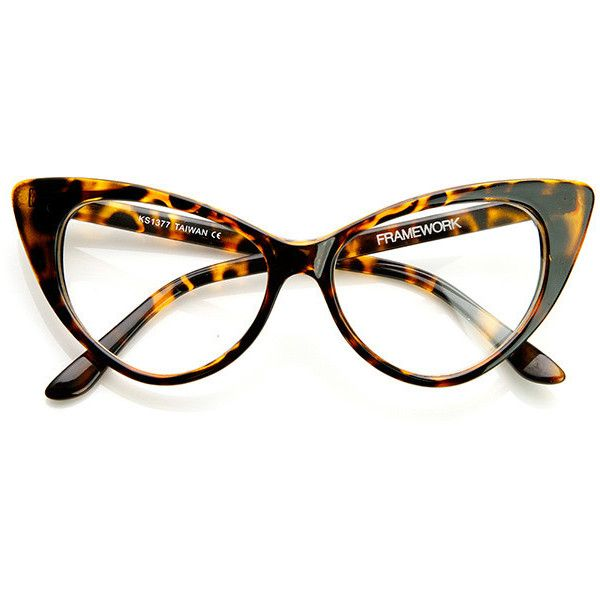 1950'S Vintage Mod Fashion Cat Eye Clear Lens Glasses 8435 (5.711 KWD) ❤ liked on Polyvore featuring accessories, eyewear, eyeglasses, uv protection glasses, clear eye glasses, vintage eye glasses, vintage eyewear and cat-eye glasses