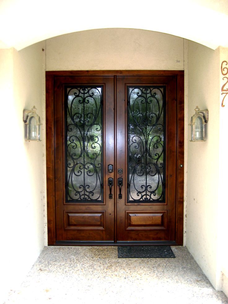 24 Best Iron Grill Wood Doors Images On Pinterest Entrance Doors