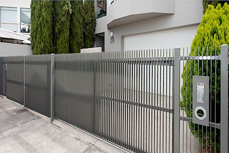Vertical Steel Blade Gates and Fence