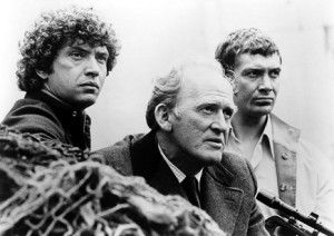 The Professionals which originally ran from 1977 to 1983.  Martin Shaw, Gordon Jackson (19 December 1923 – 15 January 1990) and Lewis Collins (26 May 1946 – 27 November 2013).  Jackson and Shaw starred in many other things.  Collins, who died recently, is best know for the Professionals and Who Dares Wins (1982).