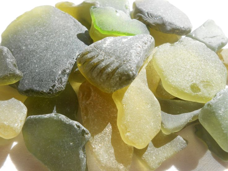 Rough citron and olive sea glass, job quality genuine citron and green beach glass supply by BeniciaSeaglass on Etsy