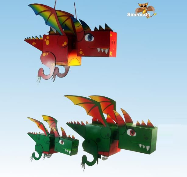 Little Kuboid Dragon Decorative Paper Model – by Sirrob 01 - == - This funny Little Kuboid Dragon decorative paper model was created by designer Sirrob 01. He is a very talented and creative designer and you will find a lot of nice paper models in his page, with emphasis on models for RPG and Wargames.