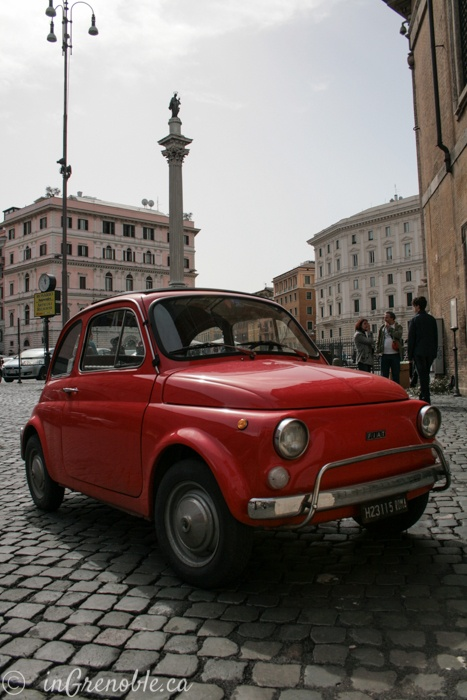 Little red car. Rome, Italy